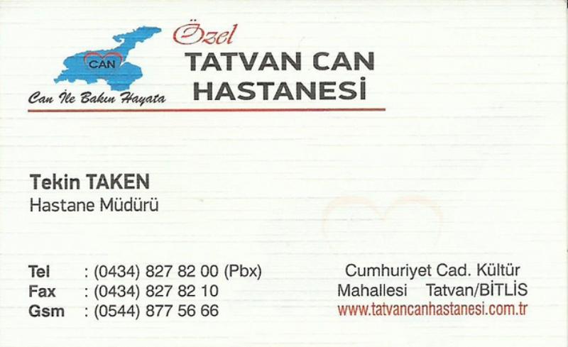 Tatvan Can Hastanesi