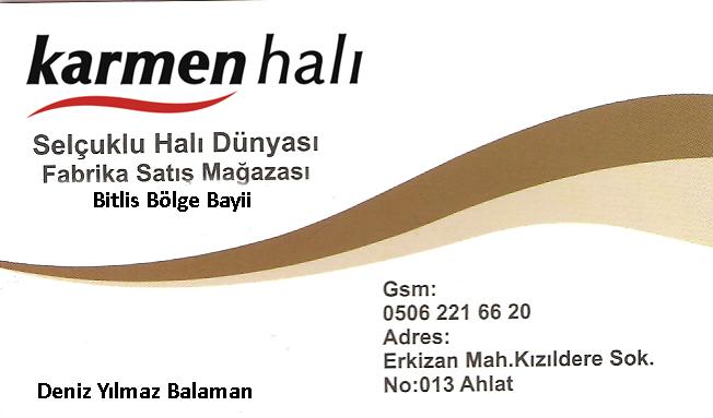 Selçuklu Halı Dünyası Karmen Bitlis Bölge Bayii