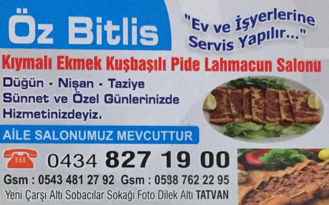 Bitlis Kıymalı Ekmek