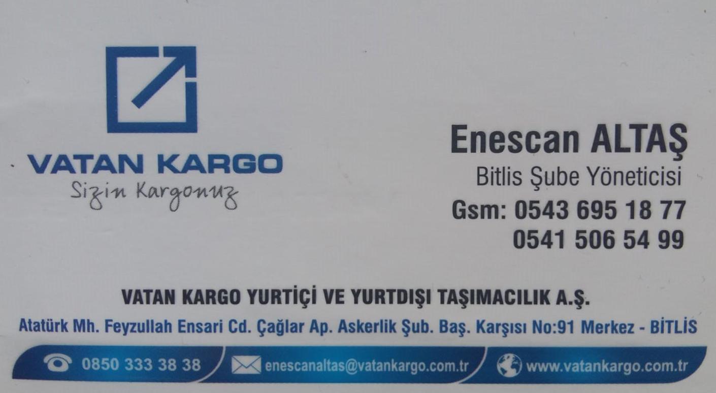Vatan Kargo Bitlis Şubesi
